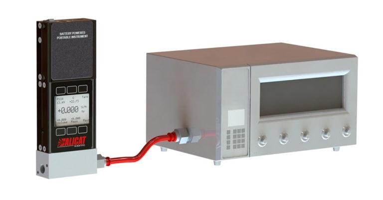 Calibrate gas analyzers with an Alicat MWB mass flow standard