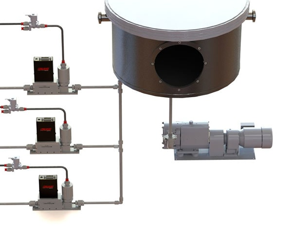 Vacuum sputtering using Alicat MCV mass flow controllers