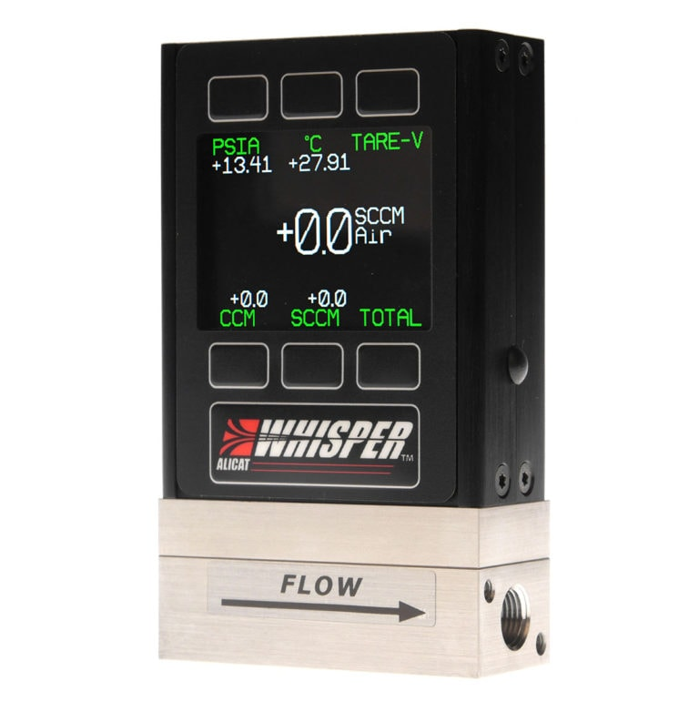"""ALICAT """"Whisper"""" Series Flow Meter, optionally available with color display and backlight"""