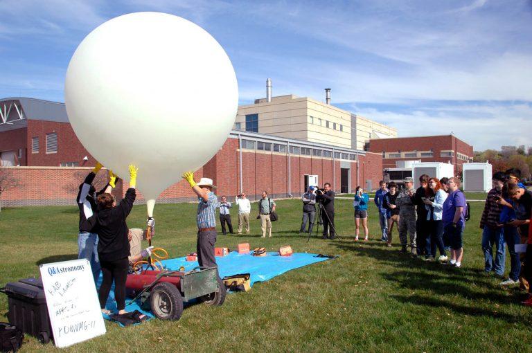 High altitude balloon launch.